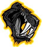 Insignia de la mascota de la pantera stock de ilustración