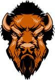 Insignia de la mascota del búfalo ilustración del vector