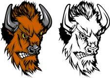 Insignia de la mascota del búfalo Imagen de archivo
