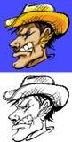 Insignia de la mascota del granjero libre illustration