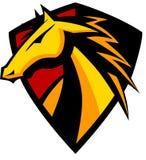 Insignia de la mascota del mustango/del caballo salvaje stock de ilustración