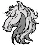 Insignia de la mascota del mustango/del caballo salvaje
