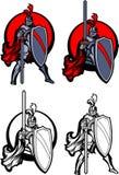 Insignia de la mascota del paladín del caballero stock de ilustración