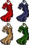 Insignia de la mascota del puma/de la pantera Imagen de archivo libre de regalías