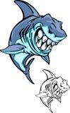 Insignia de la mascota del tiburón Foto de archivo libre de regalías