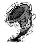 Insignia de la mascota del tornado de la tormenta Imágenes de archivo libres de regalías