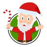 Insignia de la Navidad o de Papá Noel Fotografía de archivo