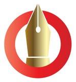 Insignia de la pluma Imagen de archivo libre de regalías