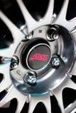 Insignia de la rueda del STI de Subaru Imágenes de archivo libres de regalías