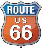 Insignia de la ruta 66 fotografía de archivo