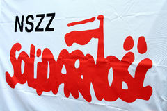 Insignia de la solidaridad Fotografía de archivo libre de regalías