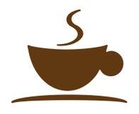 Insignia de la taza de café Foto de archivo