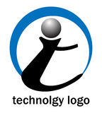 Insignia de la tecnología ilustración del vector
