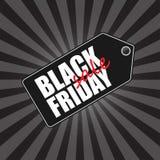 Insignia de la venta de Black Friday Imagen de archivo libre de regalías