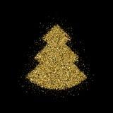 Insignia de las letras de la Feliz Navidad Foto de archivo