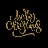 Insignia de las letras de la Feliz Navidad Imagen de archivo