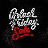 Insignia de las letras de la venta de Black Friday Imágenes de archivo libres de regalías