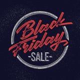 Insignia de las letras de la venta de Black Friday Imagenes de archivo