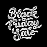 Insignia de las letras de la venta de Black Friday Foto de archivo