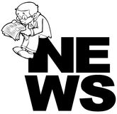 Insignia de las noticias ilustración del vector