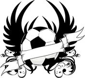 Insignia de las personas de fútbol Imagen de archivo