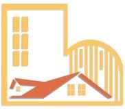 Insignia de las propiedades inmobiliarias Imagen de archivo