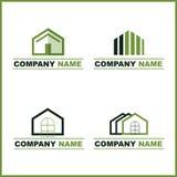 Insignia de las propiedades inmobiliarias - verde ilustración del vector