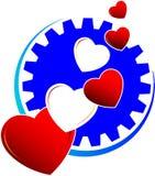 Insignia de los corazones del amor Fotografía de archivo libre de regalías