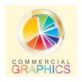 Insignia de los gráficos Fotografía de archivo