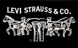 Insignia de los pantalones vaqueros de los strauss de Levi stock de ilustración