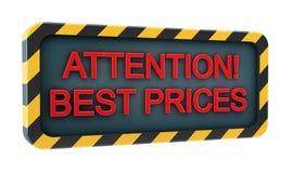 Insignia de los precios bajos Fotos de archivo libres de regalías