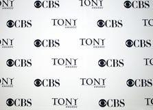 Insignia de los Premios Tony del CBS Imagenes de archivo