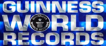 Insignia de los récores mundiales de Guinness Fotos de archivo libres de regalías