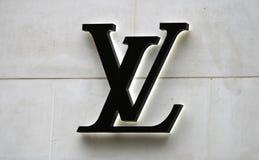 Insignia de Louis Vuitton Imagen de archivo libre de regalías