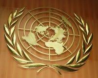 Insignia de Naciones Unidas Imagen de archivo libre de regalías