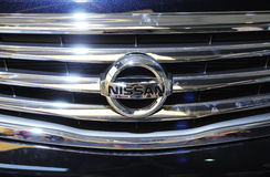 Insignia de Nissan Foto de archivo