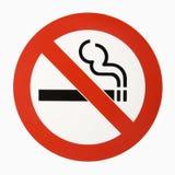 Insignia de no fumadores. imágenes de archivo libres de regalías