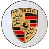 Insignia de Porsche Imagen de archivo libre de regalías