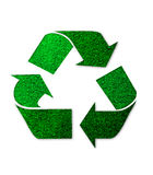 Insignia de reciclaje verde Fotografía de archivo