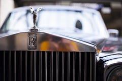 Insignia de Rolls Royce Primer del coche del vintage de la parte delantera fotografía de archivo libre de regalías