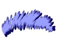 Insignia de Swoosh del garabato de la etiqueta de plástico Imagen de archivo libre de regalías