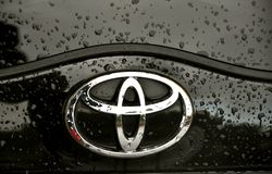 Insignia de Toyota fotos de archivo libres de regalías