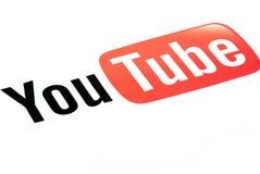 Insignia de Youtube fotografía de archivo