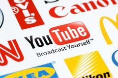 Insignia de Youtube Fotografía de archivo libre de regalías