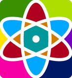 Insignia del átomo ilustración del vector