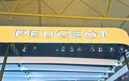 Insignia del automóvil de Peugeot Foto de archivo libre de regalías