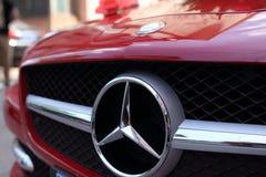 Insignia del Benz de Mercedes Imagen de archivo