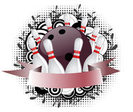 Insignia del bowling ilustración del vector