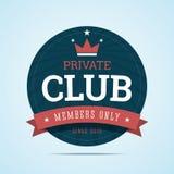 Insignia del club privado stock de ilustración