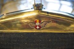 Insignia del coche de Hispano-Suiza del coche exterior 1912 Fotografía de archivo libre de regalías